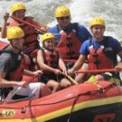 close up of group of rafters on the Arkansas River Raft Masters Tours Colorado