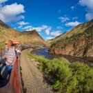 guests enjoying Royal Gorge Train ride on sunny day Raft Masters Tours Colorado