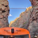 view of top of Royal Gorge train and bridge Raft Masters Tours Colorado