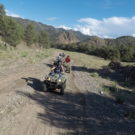 4 people driving on a ATV path Raft Masters Tours Colorado