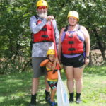 Family getting ready to raft