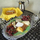 wine tasting and fruit and cheese tray Raft Masters Tours Colorado