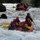 guests rafting in rapids enjoying themselves in Clear Creek Raft Masters Tours Colorado