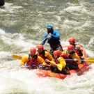 guests in raft on Clear Creek Raft Masters Tours Colorado