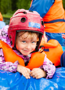 life vests and helmets for rafting safety